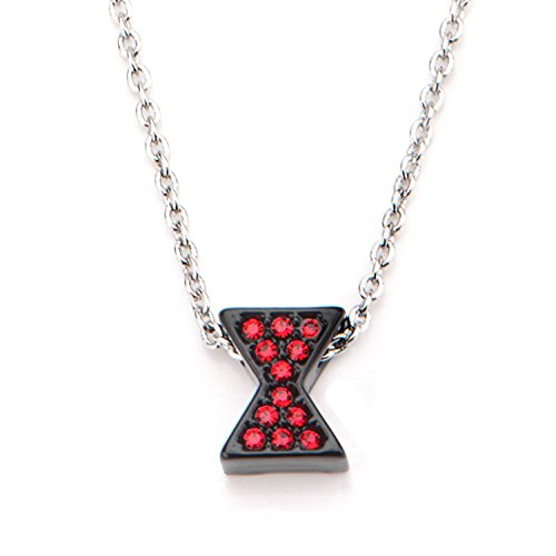 Marvel Black Widow Logo Pendant Necklace -