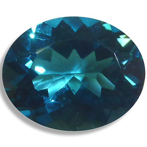Natural Topaz London Blue Oval Loose Unset Gem (8x6mm) click for more (Natural Topaz Gem)