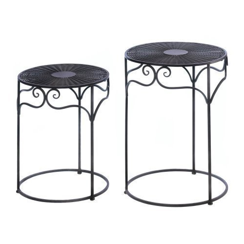 Home Locomotion Umber Wicker Round Nesting Tables by Home Locomotion