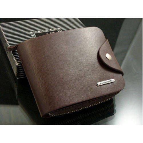 Men's Leather Bifold Credit ID Card Holder Billfold Zipper Purse Wallet (Windows 7 Korean compare prices)