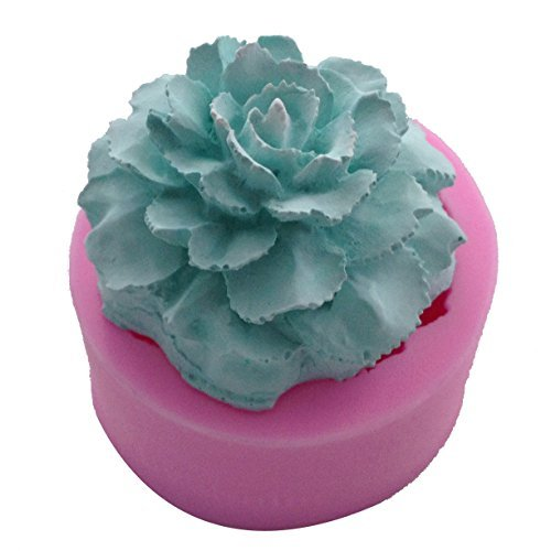 WYD Carnation Flower Shape Silicone Fondant Mold,Handmade Soap Mold,Cake Mold Decorating,Candle Mold