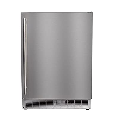 "Maxx Ice MCR5U-O 24"" Built-In Undercounter Outdoor Refrigerator Beverage Center – 5 cu ft in Stainless Steel"