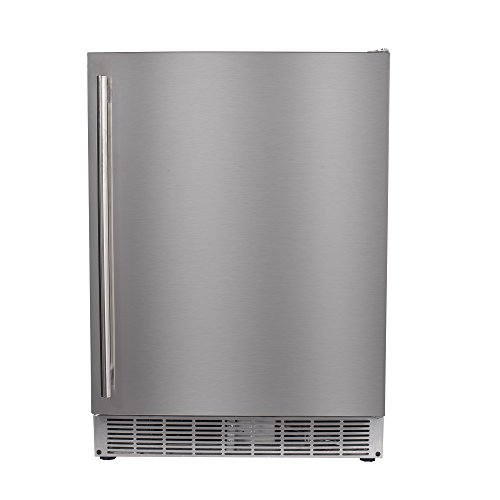 "Maxx Ice MCR5U-O 24"" Built-In Undercounter Outdoor Refrigerator Beverage Center - 5 cu ft in Stainless Steel"