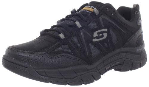 Skechers Sport Men's Rig Hiking Relaxed Fit Memory Foam Shoe,Black,8.5 M US