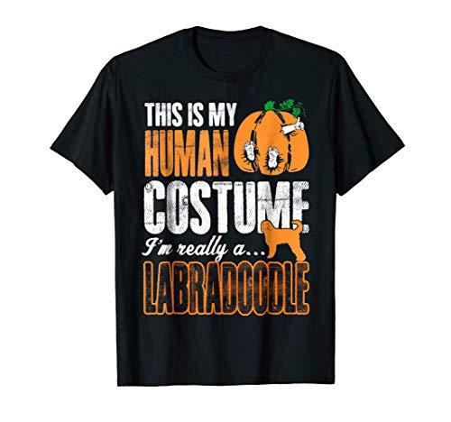 This Is My Human Costume Im Labradoodle Halloween Tshirt]()