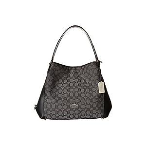 COACH Signature Edie 31 Shoulder Bag Sv/Black Smoke/Black One Size