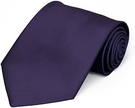 TieMart Lapis Purple Premium Solid Color Necktie