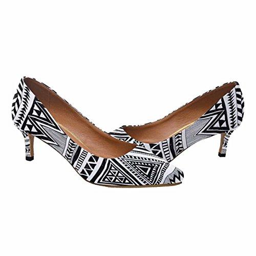 Talon De Chaton Lowprint Womensprintprint Orteil Robe Chaussures De Pompe Ethnique Vintage Impression Multi 1