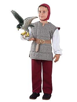 DISBACANAL Disfraz de cetrero Medieval para niño - Único, 12 ...