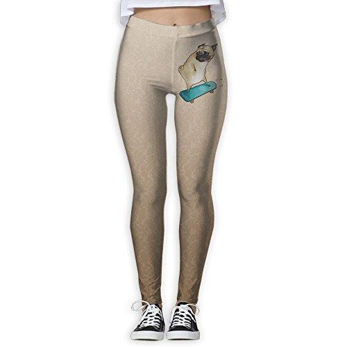 Vcfeee7 Female Full Length Yoga Pants Skateboard Dog Yoga Leggings