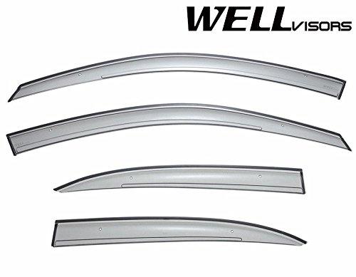 Mercedes Benz Visor (WellVisors Side Window Wind Deflector Visors - Mercedes Benz C Class W204 Sedan C200 C250 C300 C350 2008 2009 2010 2011 2012 2013 2014 Premium Series)
