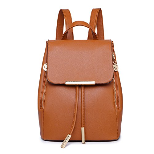 SYXLCYGJ Backpack amp; Bag Girls Shoulder Leather Womens Purse PU Fashion Brown Casual rgXwr6ZWq