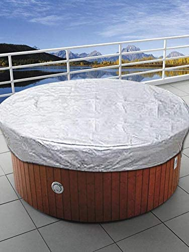1set Black Round Bathtub SPA Waterproof Cover Canopy Daily Cover Dust Cover