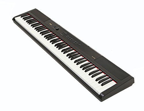 Artesia PA-88W Digital Piano (Black) 88-Key With 12 Dynamic Voices and Semi-weighted Action + Power Supply + Sustain Pedal + Carrying Case