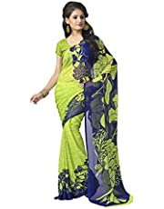 Vaamsi Georgette Printed Saree With Blouse Piece (Rolex3072_Multi_One Size)