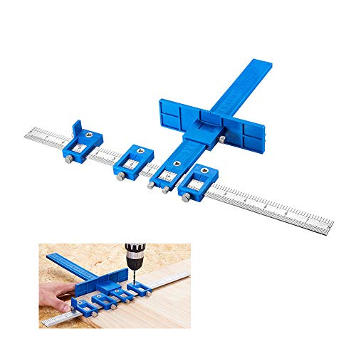 Cabinet Hardware Jig Mounting Template Drill Guide Sleeve Drawer Pull Jigs handle jig Power Tools Drilling Punch Locator Wood Drilling Dowelling Woodworking Kit for Cabinets Knobs and Pulls