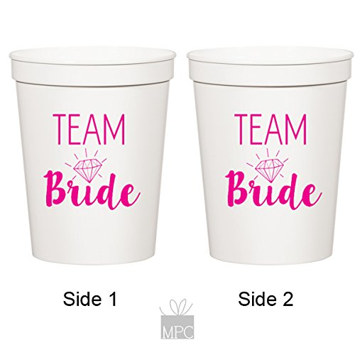 Bachelorette White Stadium Plastic Cups - Team Bride