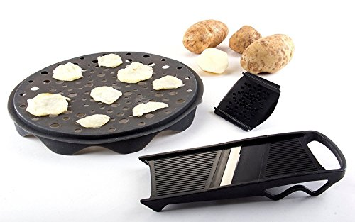 Premium Silicon Constructed Healthy Chips Maker and Slicer Set - MareLight 3 Piece hips Maker