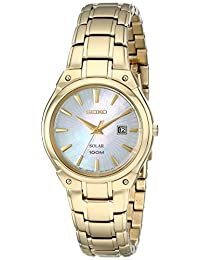 Seiko Women's SUT130 Expansion Analog Display Japanese Quartz Gold Watch