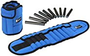 GYMENIST Pair of Ankle Weights Can Be Adjusted Up to 5.5 LB Each Set of 2 x Weight Wraps (Total 11-LB), Blue (