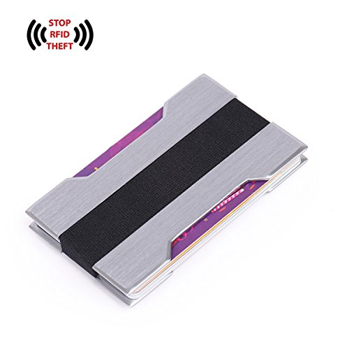 Zg Minimalist Aluminum Slim Wallet RFID BLOCKING Money Clip Lasered Famous Words on - Cinereous Grey (Clips Word)