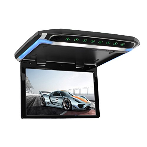 - CarThree 12.1 Inch Flip Down Monitor 1080P Car DVD Roof Ultra Thin MP5 Player with HDMI SD Card MP3 MP4 for Car SUV Truck Trailer