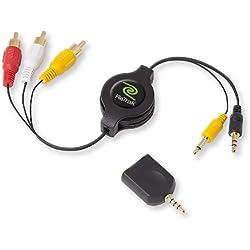 ReTrak Retractable Portable DVD to RCA Audio/Video Cable (ETCABLERCADVD)