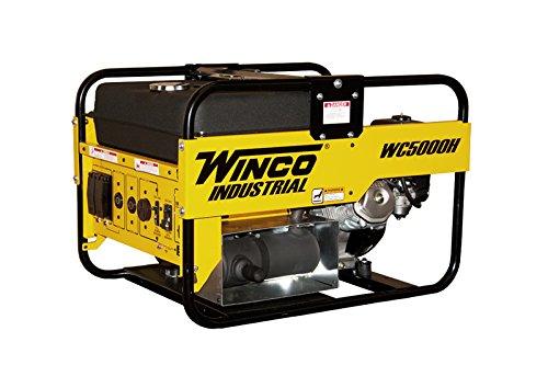 Winco WC5000H Industrial Portable Generator, 5,000W Maxim...
