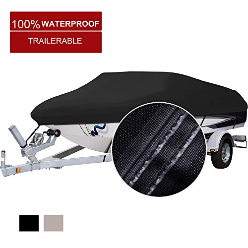 North Captain 100% Waterproof 600D Polyester Boat Cover, fits 17