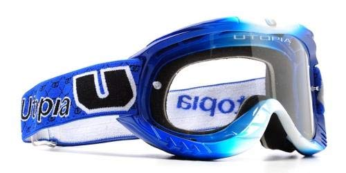 (Utopia Optics Slayer PRO MX Blue Fade Goggle - One Size)