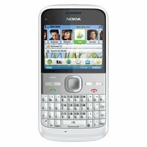 Carcasa Frontal Nokia E5–00Chalk White