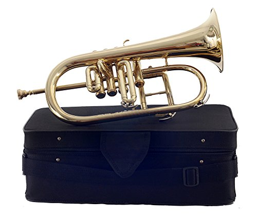Moonflag FLUGEL HORN 4 VALVE Bb PITCH BRASS WITH FREE HARD CASE + MP + TUNED by NASIR ALI (Image #2)