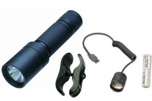 Ultimate Arms Gear Tactical Xenon Flashlight Tac-Light Kit For AR15, AR-15, M4,M-4, M16,M-16 Rifle+ Includes Barrel Clamp And Remote Pressure Switch