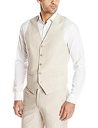 Cubavera Men's Easy Care Linen Blend Vest