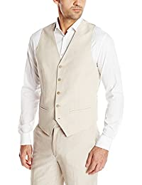 Cubavera Men's Easy Care Linen Blend Vest