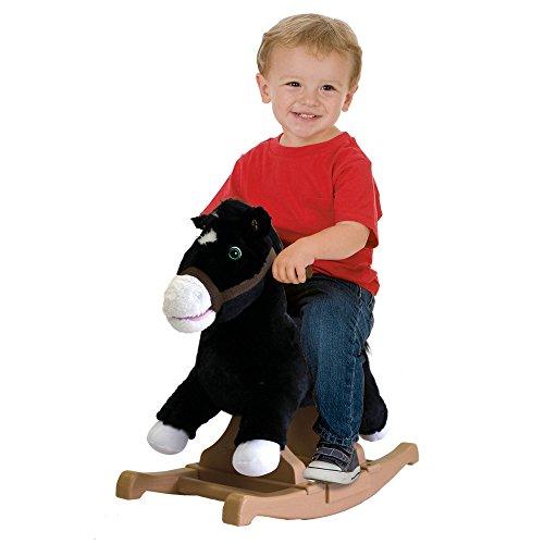 Rockin' Rider Black Rocking Pony