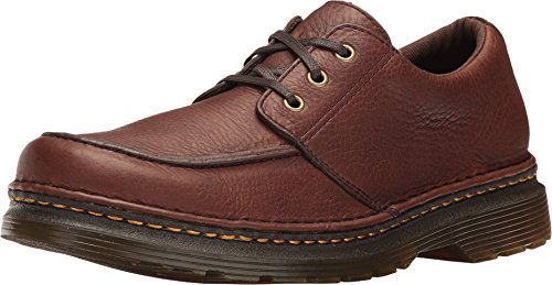 Dr. Martens Men's Lubbock Oxford, Dark Brown, 10 UK/11 D US
