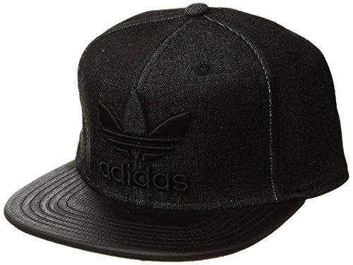 - adidas Men's Originals Trefoil Plus Precurve Structured Cap, Black Denim/Black, One Size