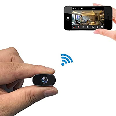 PNZEO W2 Mini Hidden Camera 1080P HD IP Camera Video Recorder 140 wide-angle wireless wifi Spy Camera Security Camera Remote view Motion Detection by Shenzhen Clouds flying technology co., LTD.