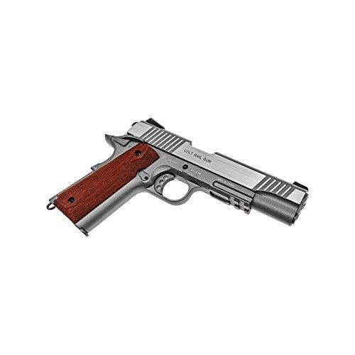 Cybergun Colt 1911 Rail Gun Stainless Co2 Réplique puissance 0.5 joules 3