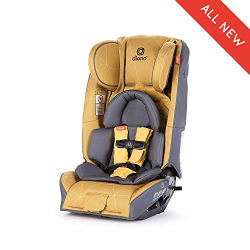 Diono Radian 3RXT All-in-One Convertible Car Seat, for Children from Birth to 120 Pounds, Yellow Sulphur