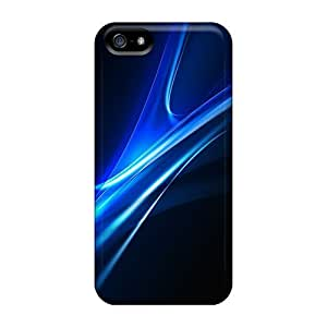 High Quality MDCH Blue Curves Abstract Skin Case Cover Specially Designed For Iphone - 5/5s