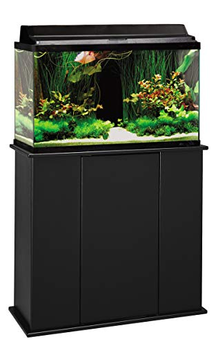 Aquatic Fundamentals AMZ-36291-01, 29 Gallon Aquarium Stand with Storage, Black Finish ()