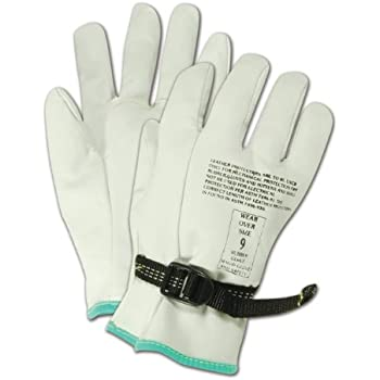 Magid PowerMaster 12501PS Leather Linesman Protector Gloves, for Use Over a Class 00 or Class 0 Rubber Insulating Glove, 9.5