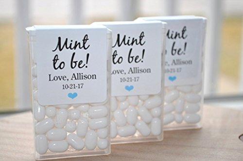 Bridal Shower Favors, Tic Tac Labels Mint To Be, Wedding Favors, Bachelorette Party, Personalized Wedding Stickers, Mint Labels - Set of 24 Labels