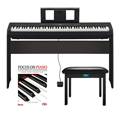 Yamaha P45 88 Weighted Keys Digital Piano with Yamaha L85 Furniture Stand ,Knox Bench and Focus Music Book/CD from Yamaha