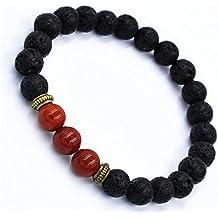 Swyss Volcanic Stone Transfer Beads Bracelet Tibet Charm Bangle Elastic Beaded Health Energy Chain