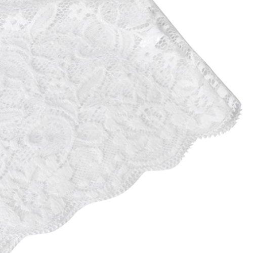 Dessous Damen, LHWY Charmant Frauen Lace Tube Top Briefs Unterwäsche Set Club Höschen Weiß Rot Sommer Kostüm Weiß