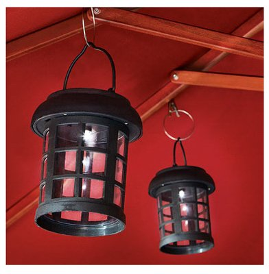 Smart Solar 3782WRM2 4.5'' Black Umbrella Hanging Solar Lanterns 2 Count