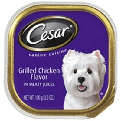 Cesar Canine Cuisine Grilled Chicken Flavor in Meaty Juices Wet Dog Food